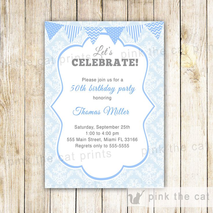 25 best Adult Birthday Invitations images – Damask Birthday Invitations