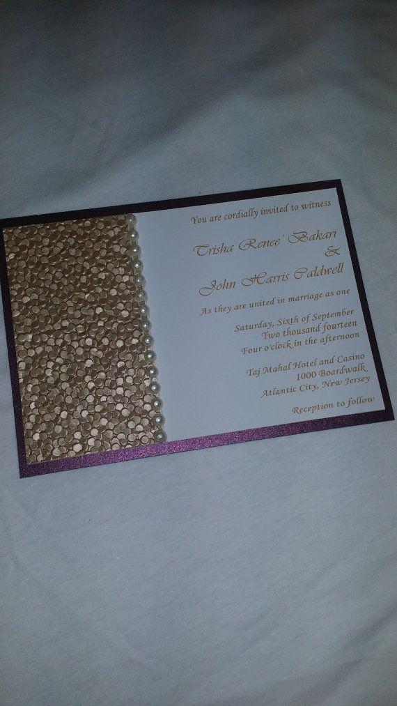 17 best Wedding Invitations images on Pinterest | Custom wedding ...