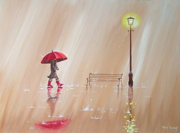 """Walking in the Rain"" by Pete Rumney"