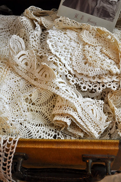 memories..I love lace doilies.. my grandmother had them everywhere.I still use…