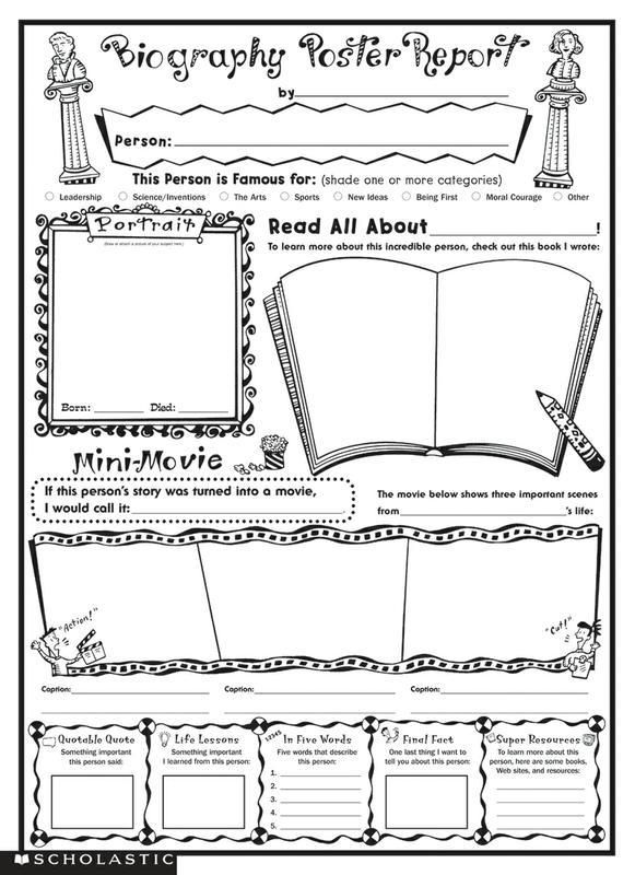 Printable Book Report Poster Book Report Templates Reading Worksheets Book Review Template