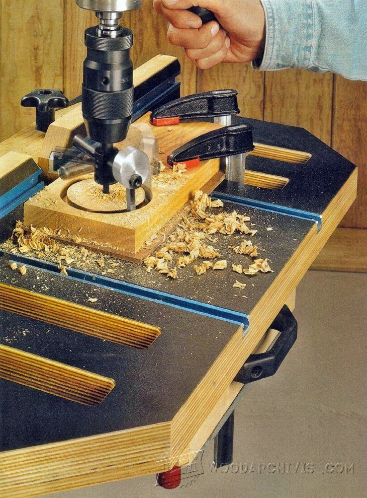 Drill Press Table Plans Drill Press Tips Jigs And