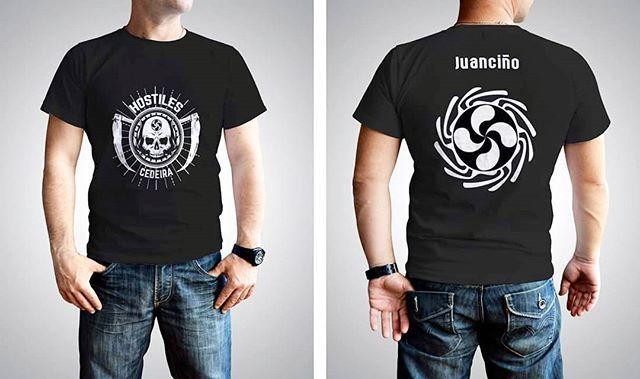 Diseño de camisetas para Hostiles  #diseñoGalicia #galiciaDiseño #Yeti #galiciaCalidade #galicia #diseño #comunicacion #love #vedra #santiagoDC #trabajoBienHecho #imagenCorporativa #instagood #happy #swag #design #graphicDesign #amazing #bestOfTheDay #art #creatividad #creative #camiseta #tshirt #hostiles #cedeira #lauburu