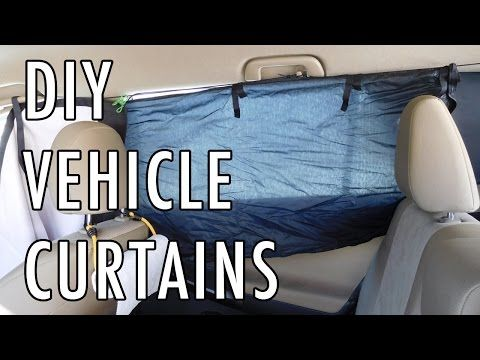 DIY Curtains for a Van, Car, SUV, etc. - YouTube