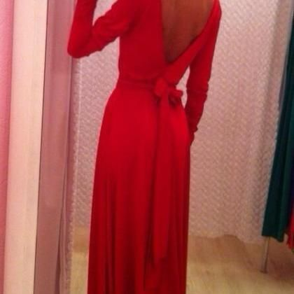 Red Sexy chiffon jumpsuit d..