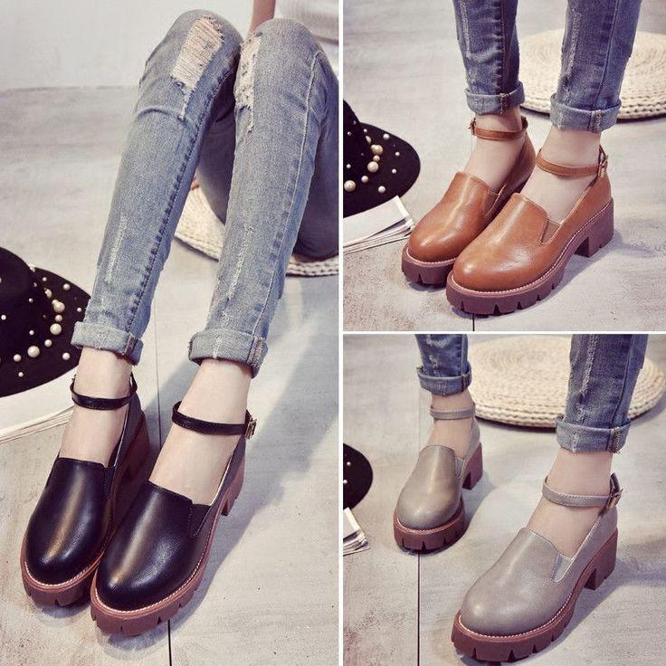 Harajuku fashion students platform shoes