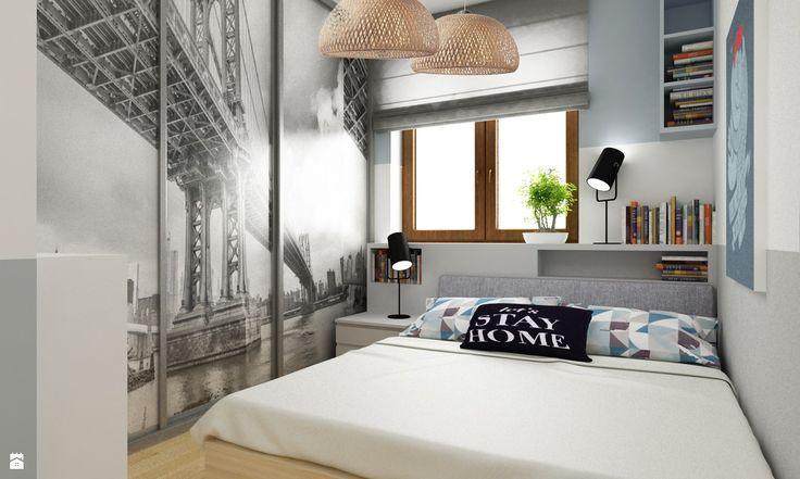 Sypialnia styl Skandynawski - zdjęcie od Grafika i Projekt architektura wnętrz…