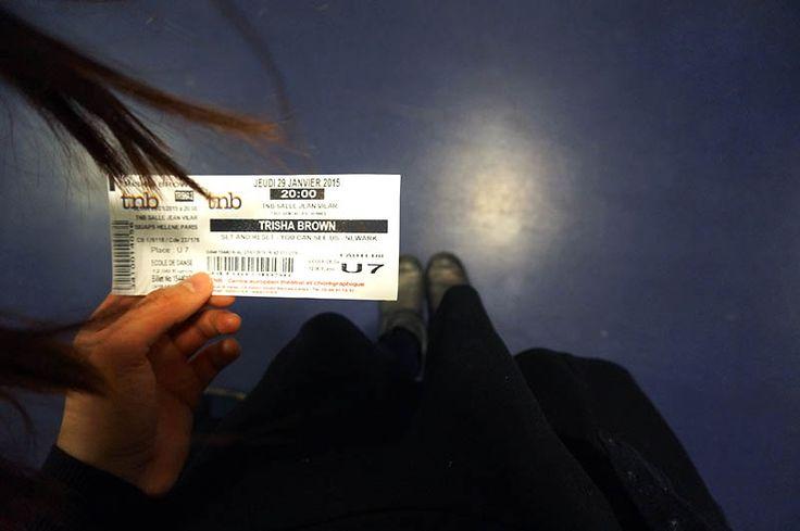 #billet #spectacle #trishabrown #danse #dance #contemporain   http://www.littlenotebooks.fr/