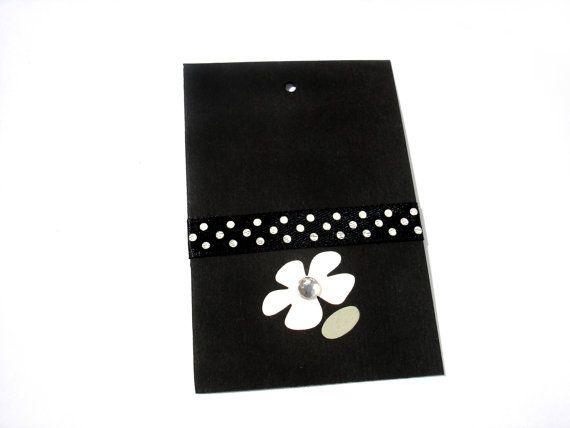 Gift Paper Card Tags White/Black  Polka Dots Black by ScrapCati, $6.50