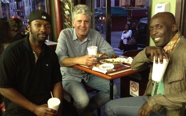 Anthony Bourdain - milkshakes with Omar and Marlo.: Visits Brooklyn S, Wire S Omar, Brooklyn S Crown, Omar Michael, Marlo Jamie, Anthony Bourdain, Bourdain Visits