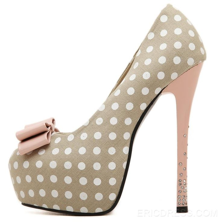 Ericdress Sweet Dots Prom Shoes with Bowknot&Rhinestone 9