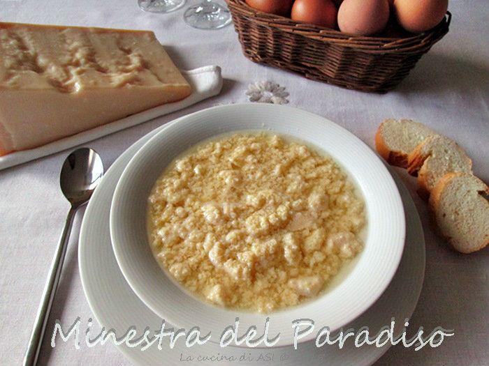 La minestra del paradiso o tardura o stracciatella è una tipica ricetta emiliano-romagnola con grana uova pangrattato al profumo di noce moscata