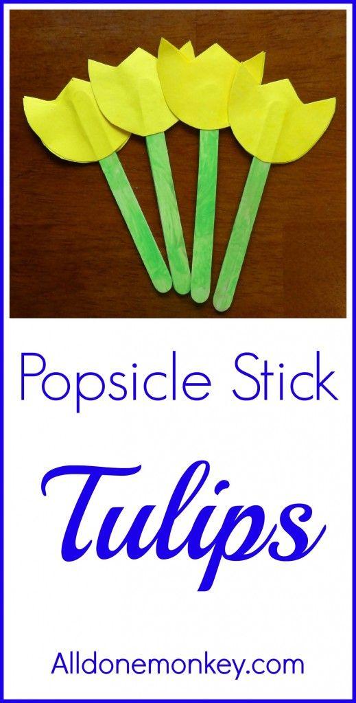 Spring Flower Craft: Popsicle Stick Tulips {Naw Ruz} - Alldonemonkey.com