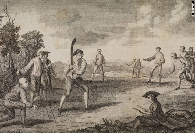 Cricket in the 18th century.