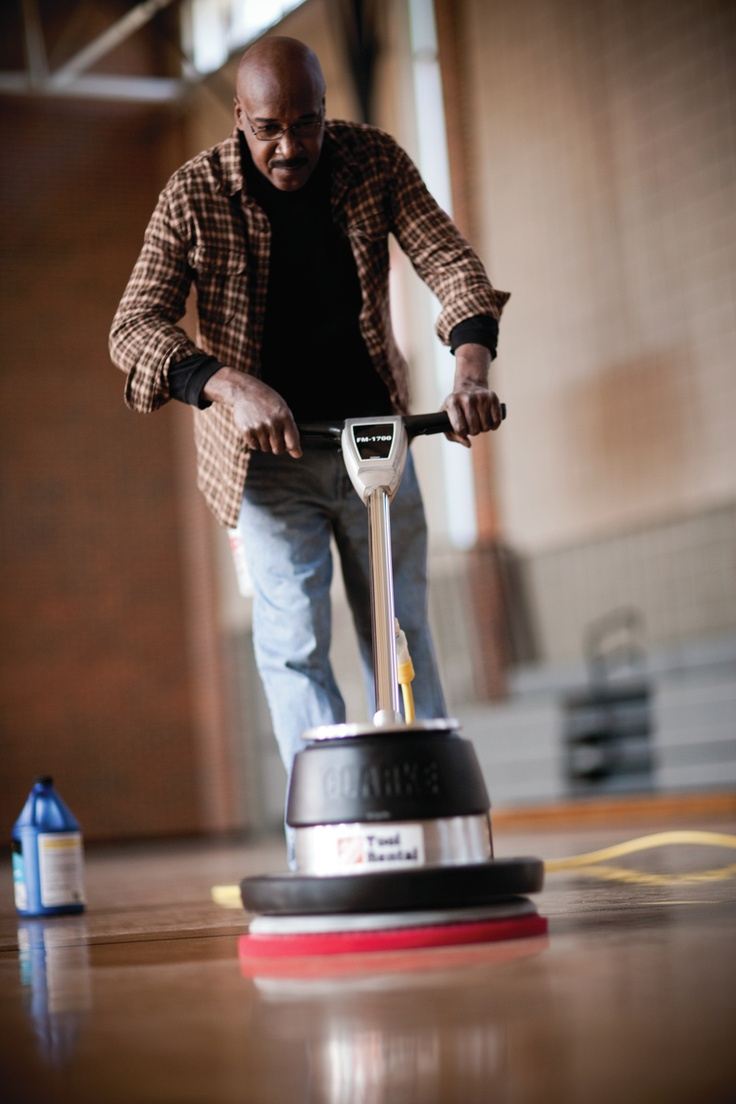Give Your Hardwood Floors A Good Polish This Weekend. Buffers Can Be Rented  From Home