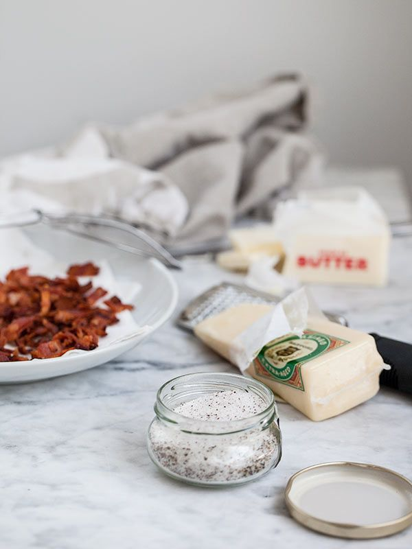 Truffle Bacon Popcorn with Parmesan by @Heidi | FoodieCrush