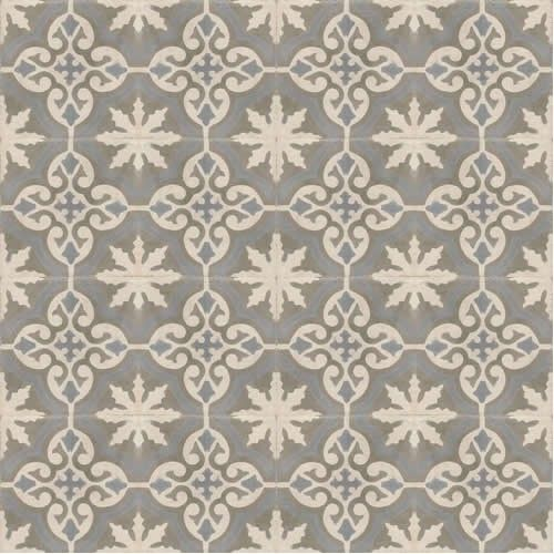 Best Tiles Home » Moroccan Encaustic Cement Pattern Grey Tile gr06