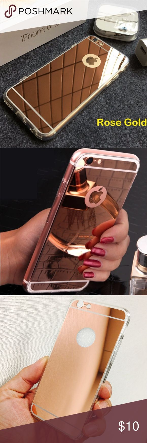 """iPhone 6+/s+ Fashion Rose Gold mirror case iPhone 6+/s+ Fashion Rose Gold mirror case Fashion cute mirror style shock-resistance Rose Gold HD mirror case for Apple iPhone 6 Plus / 6s Plus.  Brand new case on sale. Compatible size: Apple iPhone 6 Plus / 6s Plus, 5.5"""" Color: Rose Gold Accessories"""