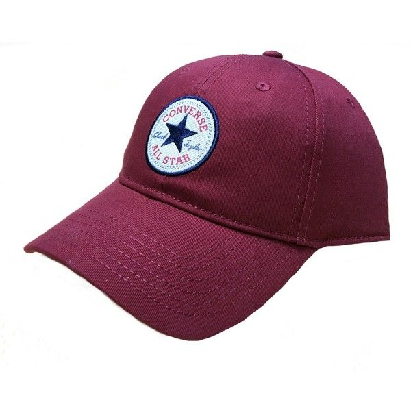 Converse Classic Twill Cap Back Alley Brick Red ($26) ❤ liked on Polyvore featuring accessories, hats, ball caps, twill baseball cap, baseball cap, converse hat and adjustable baseball cap