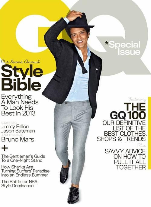 Bruno Mars - GQ Magazine Cover [United States] (April 2013)