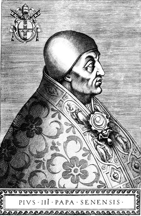 """""""Retrato do Papa Pio III"""".  (215º Papa). (by Onofrio Panvinio). Nome: Francesco Todeschini-Piccolomini. (* Siena, 29/Maio/1439 -Roma, 18/Outubro/1503)."""