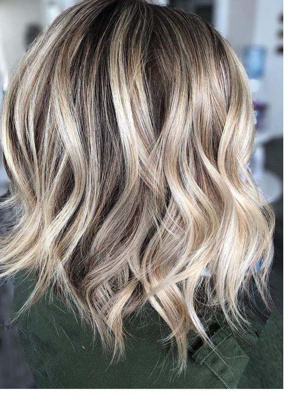 Fantastische Verwurzelte Blonde Balayage Lob Haarschnitte Fur 2019