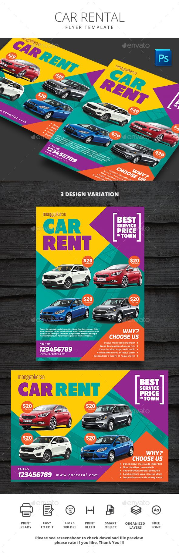 Car #Rental - #Commerce #Flyers