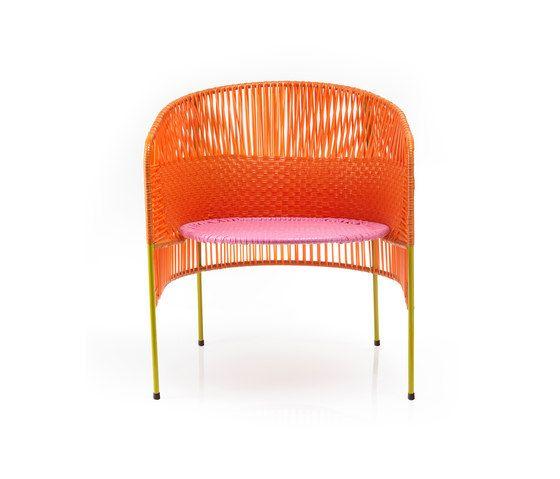Caribe | lounge stuhl, orange/rosa/curry von Ames | Gartensessel