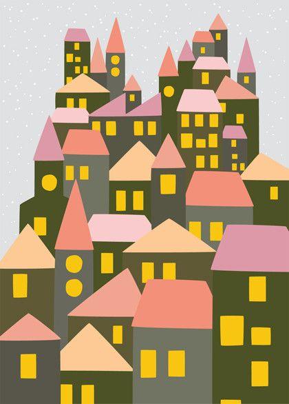 design: @Janneke Steyn Zantinge #101kerstkaartencountdown #christmascard #postcard #holidaycards #dutchdesign #kerstkaart #illustration