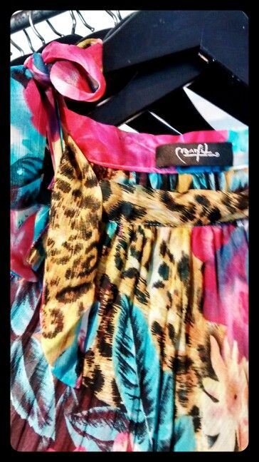Vestido tropical print