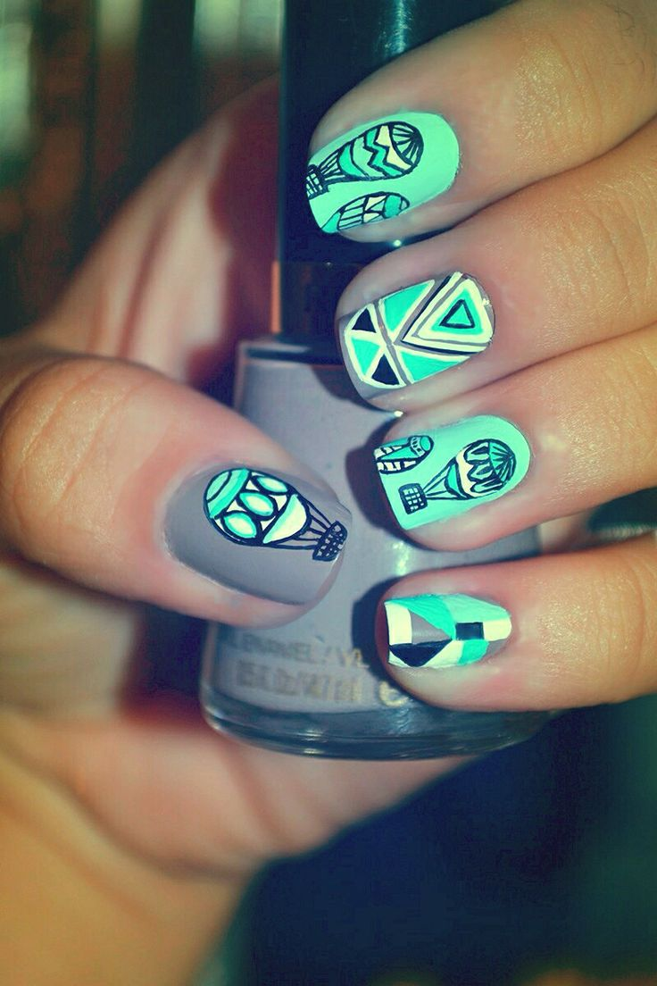 11 best my nail art images on pinterest nail art hot air balloon nails prinsesfo Choice Image