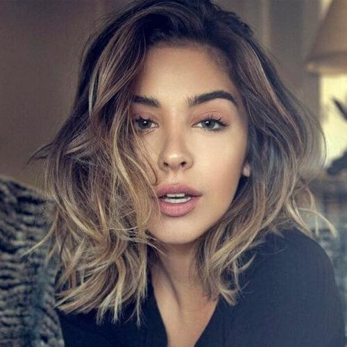 Messy Shoulder Length Hairstyles For Women Shoulder