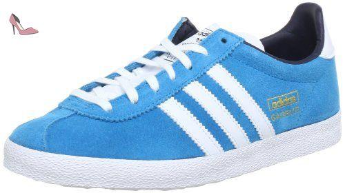 adidas Originals  GAZELLE OG W, Sneakers Basses femme, Bleu turquoise, blanc et or, 41 1/3 - Chaussures adidas originals (*Partner-Link)