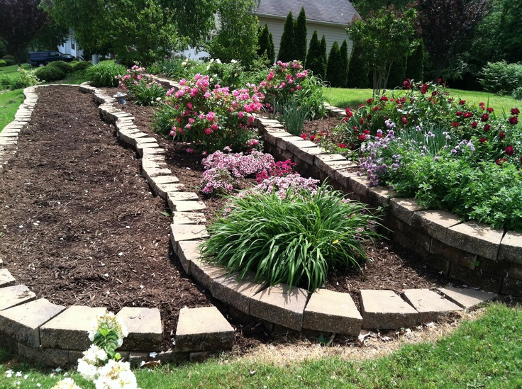 14 best images about Tiered gardens on Pinterest | Small ... on Tiered Yard Ideas id=64116