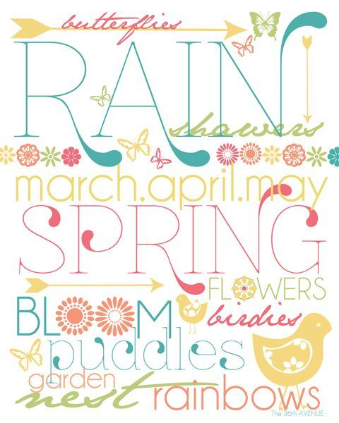 Free Spring Printable... Loving the fun colors! #Spring #Printable @The 36th Avenue .com