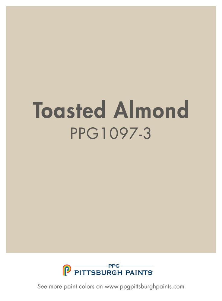 Totasted Almond PPG1097-3 from PPG Pittsburgh Paints is a part of the beige color family.