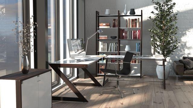 Biurko szklane Soft Line 150 cm | DESIGNERSKI
