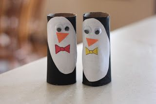 Toilet Paper Roll Penguin Puppets - I Can Teach My Child!