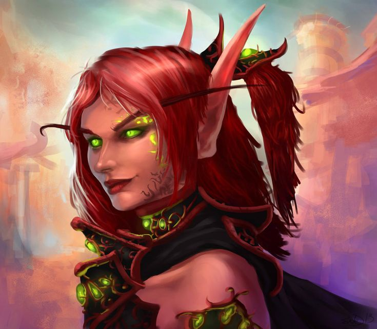 Redheaded female Blood Elf