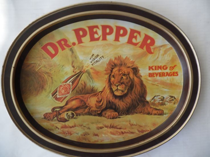 Vintage Dr Pepper King of Beverages metal serving tray by theposterposter on Etsy