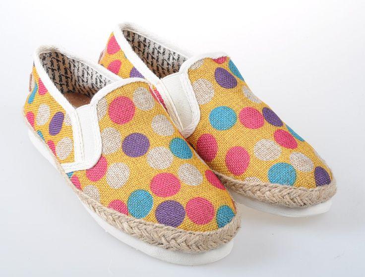 Toms Classic Men Shoes Yellow dot