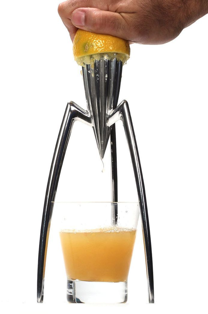 Juicy Salif Citrus Juicer by Philippe Starck for Alessi // absolute design classic, I'm lucky enough to own this wonderful sculptural + functional piece #productdesign #industrialdesign