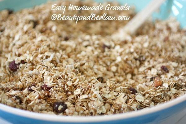 I no longer buy store bought. This is so easy, good for you and versatile - homemade granola. Don't think it's involved. It whips up quickly.