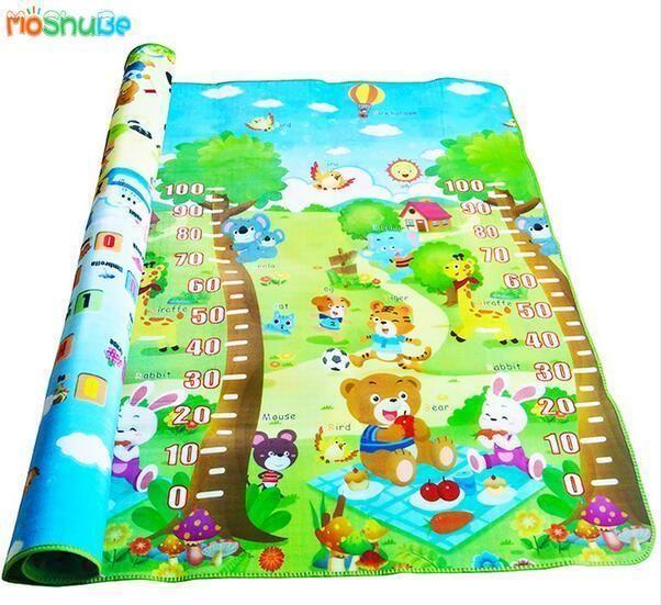 Baby Play Mat 200 180 0 5cm Crawling Mat Double Surface Baby Carpet Rug Animal Car Dinosaur Baby Play Play Gym Crawling Baby