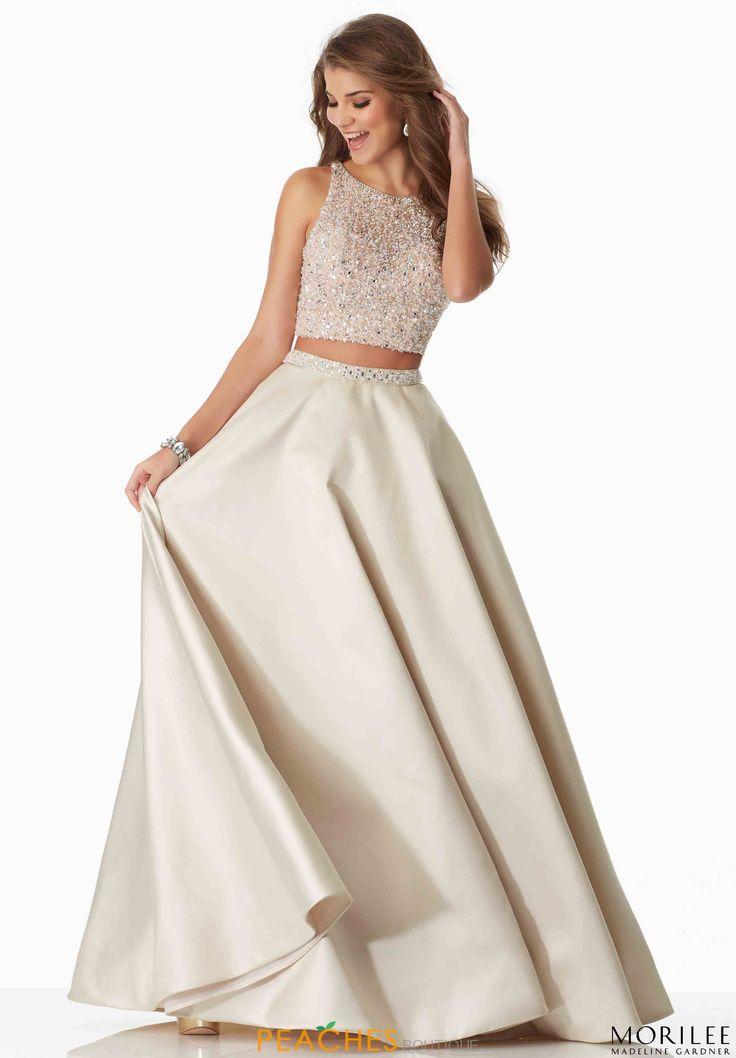 Mori Lee A Line Beaded Dress 99018