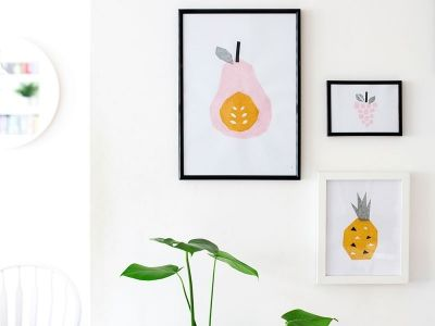 NEWSFLASH: you can phone in some sweet and simple art for your wall with just a few pieces of tissue paper and some good old PVA glue.