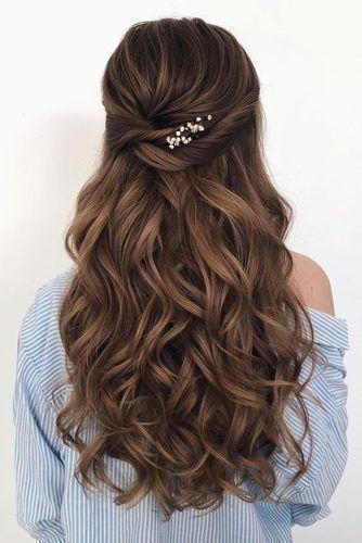 46 unvergessliche Hochzeitsfrisuren für langes Haar 2019 - einfaches und elegantes Haar ...  #einfaches #elegantes #hochzeitsfrisuren #langes