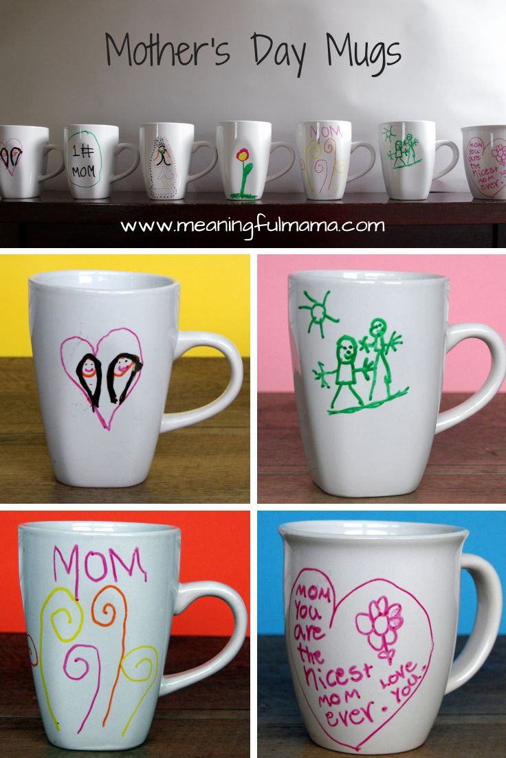 homemade fathers day mugs