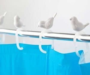 birds shower curtain hooks