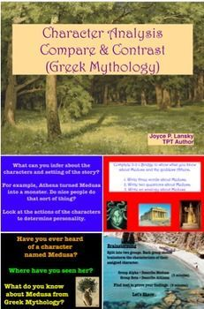 Compare & Contrast Character & Setting in Greek Mythology